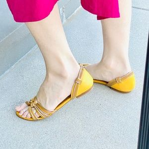 Seychelles yellow sandals flats Anthropologie 8.5